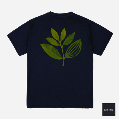 MAGENTA TRUE LEAF TEE - Navy