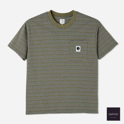 POLAR STRIPE POCKET TEE ARMY GREEN