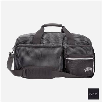 STUSSY RIPSTOP NYLON DUFFLE BAG - Black