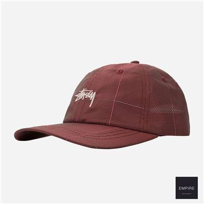 STUSSY REFLECTIVE WINDOW PAN LOW PRO CAP - Red