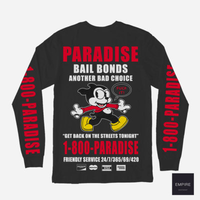 PARADISE BAIL BONDS LS TEE BLACK