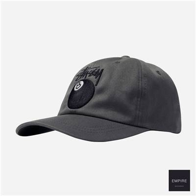 STUSSY STOCK 8 BALL LOW PRO CAP - Charcoal