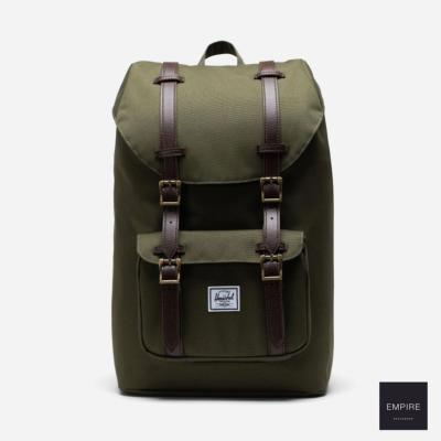 HERSCHEL LITTLE AMERICA MID-VOLUME - Ivy Green Chicory Coffee