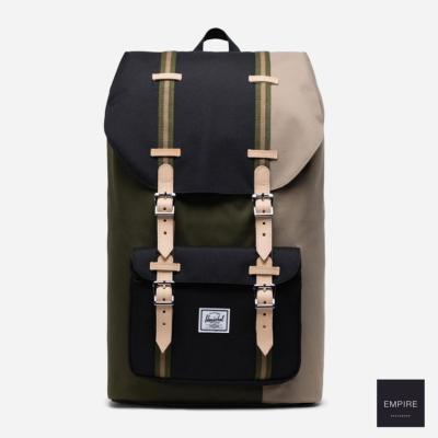 HERSCHEL LITTLE AMERICA - Ivy Green Black Timberwolf