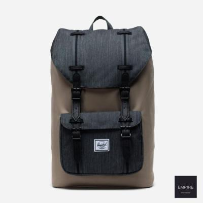 HERSCHEL LITTLE AMERICA MID-VOLUME - Timberwolf Black Black