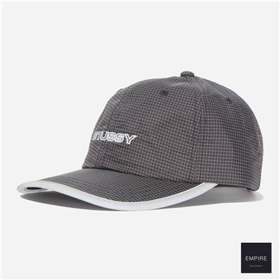 STUSSY CONTRAST RIPSTOP LOW PRO CAP - Black
