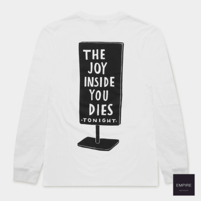 PARRA JOY INSIDE LONG SLEEVE T-SHIRT - White