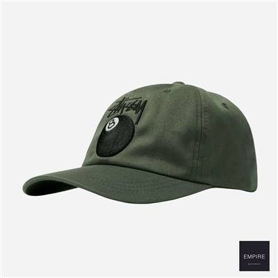 STUSSY STOCK 8 BALL LOW PRO CAP - Olive