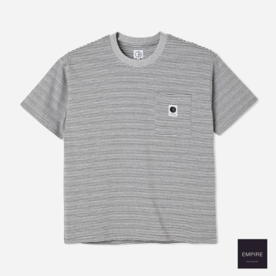 POLAR STRIPE POCKET TEE GREY