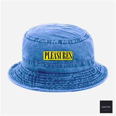 PLEASURES SPANK BUCKET HAT - Washed Blue
