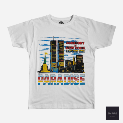 PARADISE SOMEBODY LOVES ME SS TEE WHITE