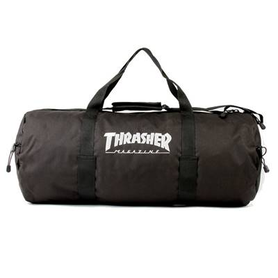 THRASHER LOGO DUFFLE BAG - Black