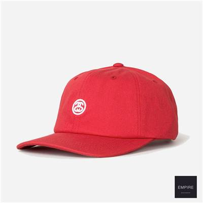 STUSSY CONTRAST STRAP CAP - Red